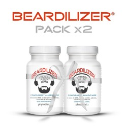 Beardilizer - 2 Bottles Pack of 90 Capsules - Facial Hair and Beard Growth Complex for Men