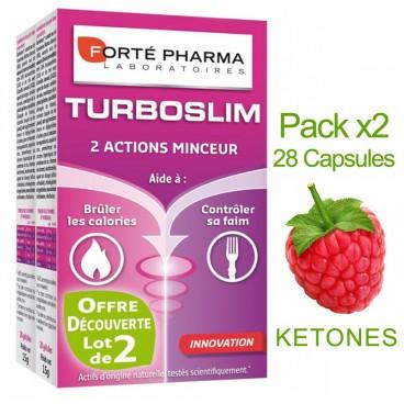 Forté Pharma - Turboslim - 2 Abnehmen Aktionen - Packung mit 2 Boxen von 28 Kapseln