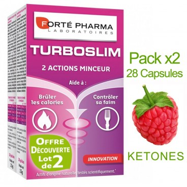 Forté Pharma - Turboslim - 2 Slimming Actions - Pack of 2 Boxes of 28 Capsules