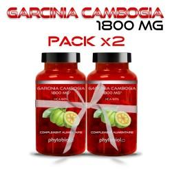 Garcinia Cambogia 1800MG - Traitement Minceur - 60 Capsules - Phytobiol