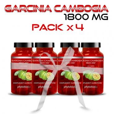 Garcinia Cambogia 1800MG - Lot von 4 Flaschen - Abnehm - 60 Kapseln - Phytobiol