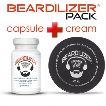 Pack Beardilizer Kapseln und Creme