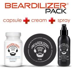 Pack Beardilizer Capsule, Spray e Crema