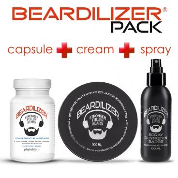 Pack Beardilizer Cápsulas, Spray y Crema