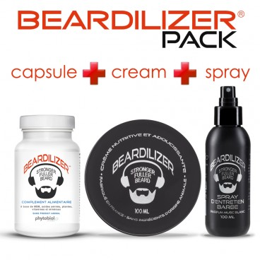 Pack Beardilizer Capsule, Spray e Crema