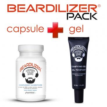 Pack Beardilizer Kapseln und Tonifying Gel
