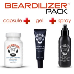 Beardilizer Capsules, Spray and Tonifying Gel Pack
